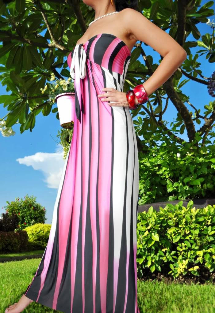 Cotton Candy Pink Halter Print Maxi Dress