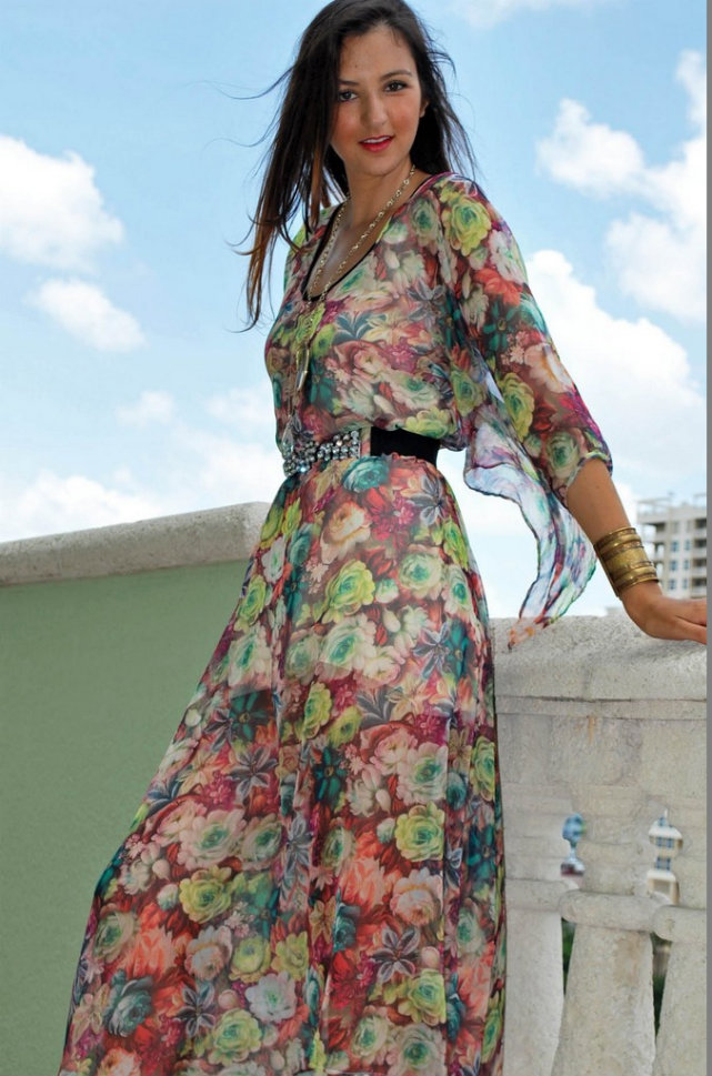 MX 02 FL--Flower Summer Cocktail Maxi Dress-Maxi Dresses Lace Dresses Satin Dresses Satin Pants Silk Pants Emerging Designers Women's Maxi Dresses